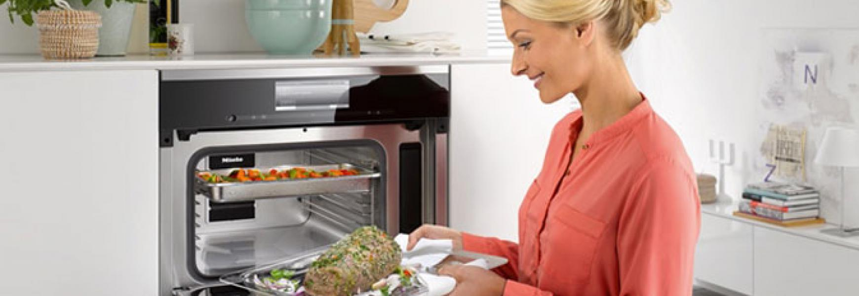 miele stoomoven met magnetron